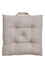 Striped seat pad - Mole/Grey striped - Home All | H&M CN 1